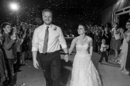 Leaving Venue lubbock wedding photographer tin Top gin