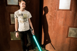 Light Saber Senior Photo Lubbock Modern Photography