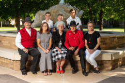 Cool modern lubbock family photo portrait group