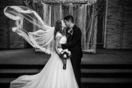 Lubbock modern wedding photo cool veil